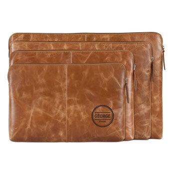 Læder laptop taske