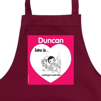 Love is... kitchen apron