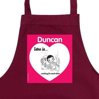 O amor é… avental da cozinha