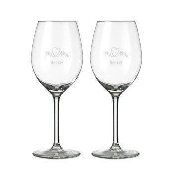 Wine glasses - White