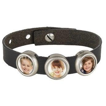 Photo charm bracelet - Black