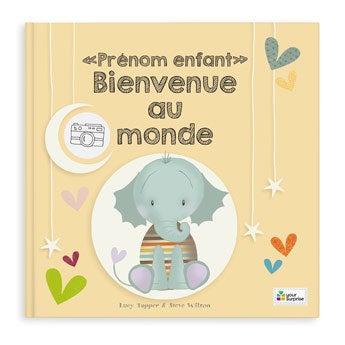 Livre bébé personnalisé - Bienvenue au monde