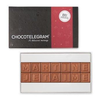 Messages en chocolat personnalisés