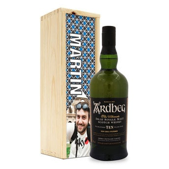 Ardbeg whisky  - en caja personalizada