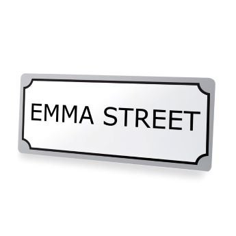 Decorative street sign