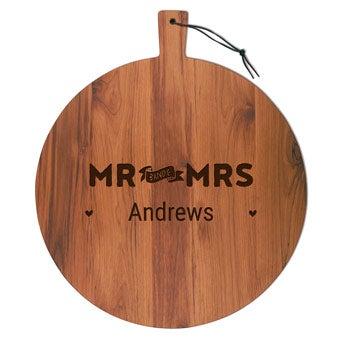 Dřevěný servírovací talíř - Teak