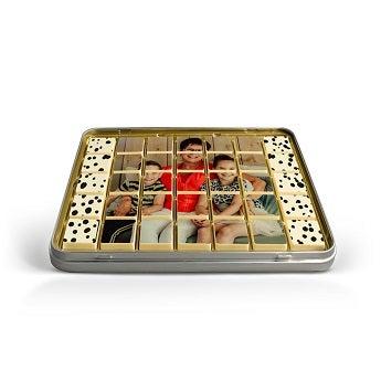 Schokoladen Puzzle - Blechdose