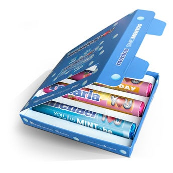 Mentos gift box with rolls