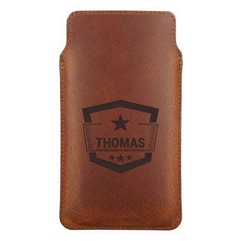 Engraved leather phone cases