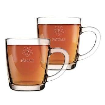 Tasses à thé gravées