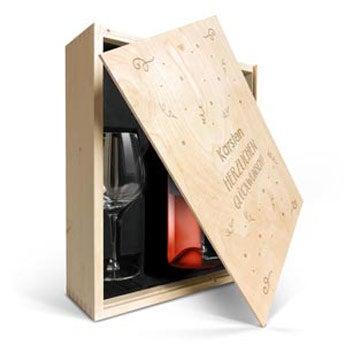 Maison de la Surprise Syrah & Gläser mit Gravur