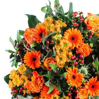 Boeket oranje bloemen