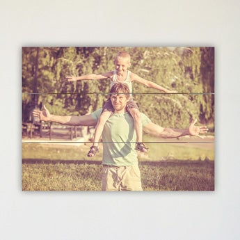 Photo on wooden planks