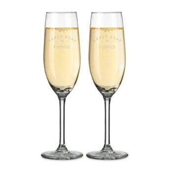 Coupes de champagne gravées