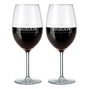 Rode wijnglazen
