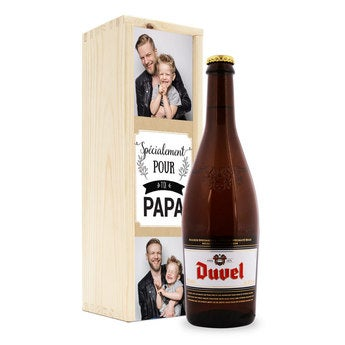 Bière avec étiquette personnalisée