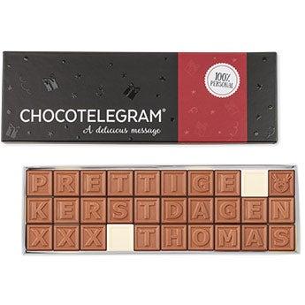 Personalised chocolate telegram