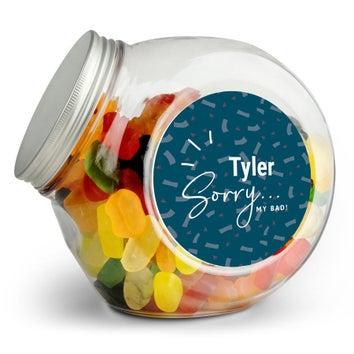 Frasco de doces personalizado