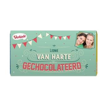 Verkade chocoladereep - Van harte