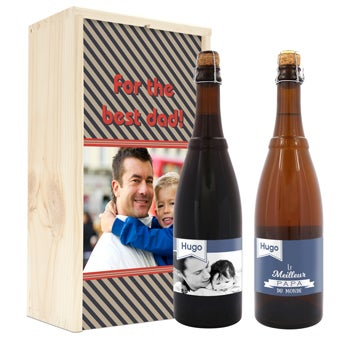 Beer in personalised case - Westmalle Double & Tripel