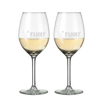 Bílé sklenice na víno