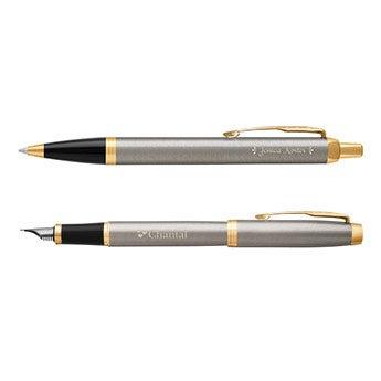 Parker pen - IM - Geborsteld metaal