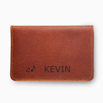 Leather bank card holder