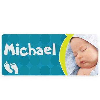 Placa de nombre de bebé