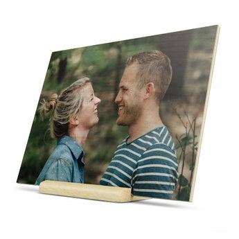 Fából készült Valentinnapi kártya