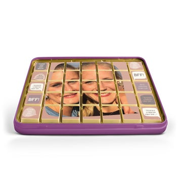 Zdjęcie na czekoladkach w puszce