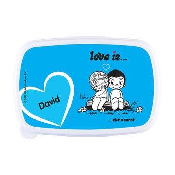 Lunchbox - Kärlek är .. - Ljusblå