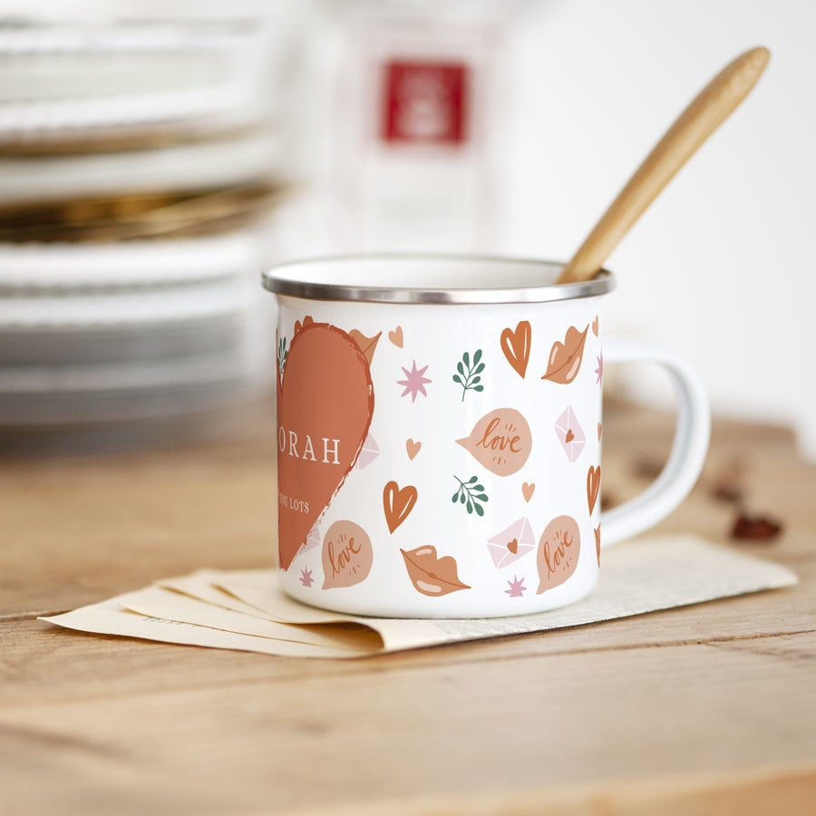 - Emaille Becher Liebe - Onlineshop YourSurprise