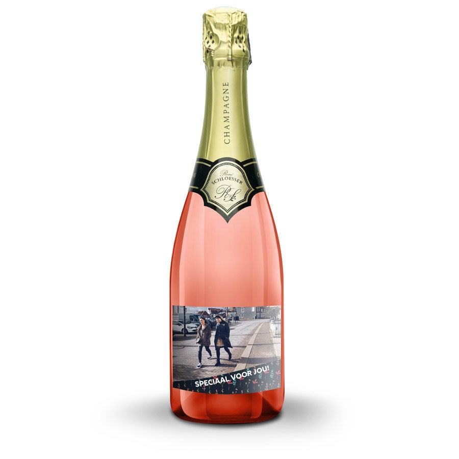 Champagne met bedrukt etiket - René Schloesser rosé (750ml)