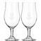 Father's Day beer glass on foot - set of 2