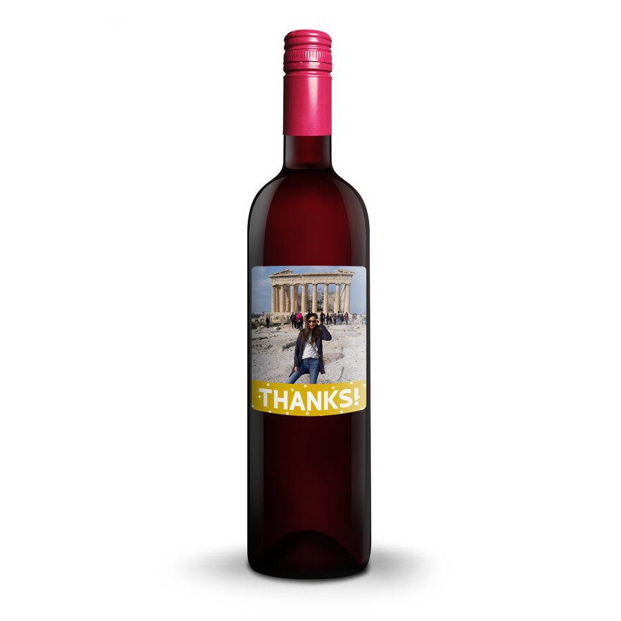 Vin med tryckt etikett - Oude Kaap - Rött