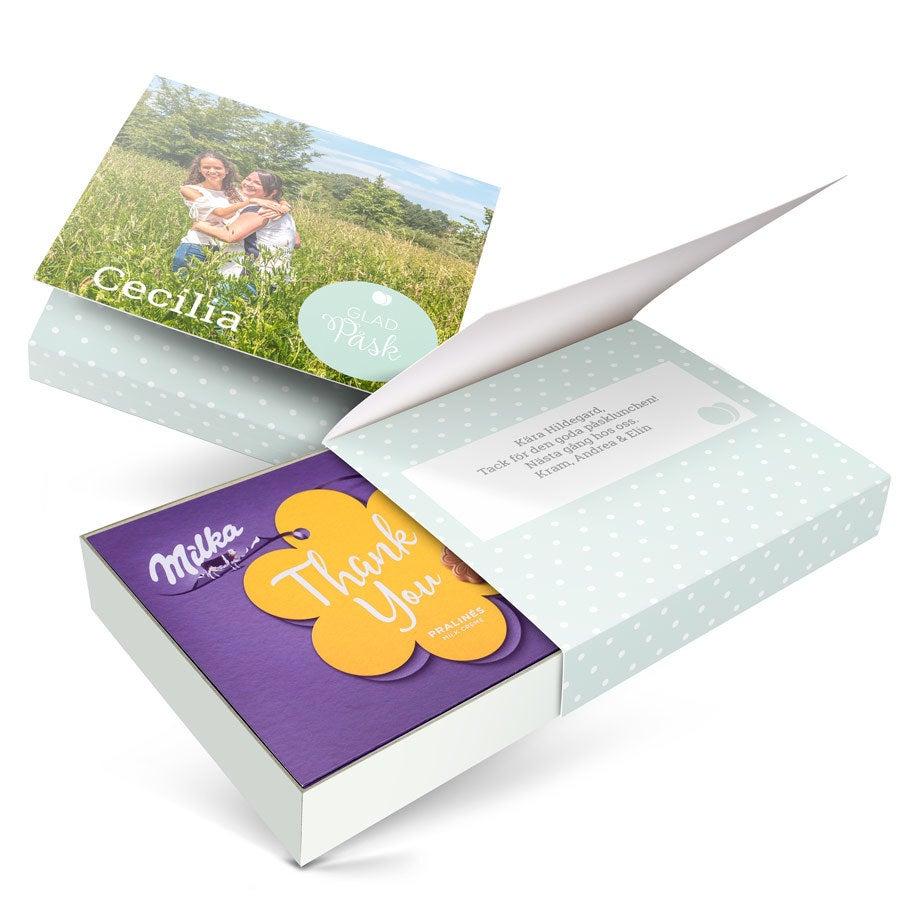 Chokladask - I love Milka! - Påsk - Blomma - 220 gram