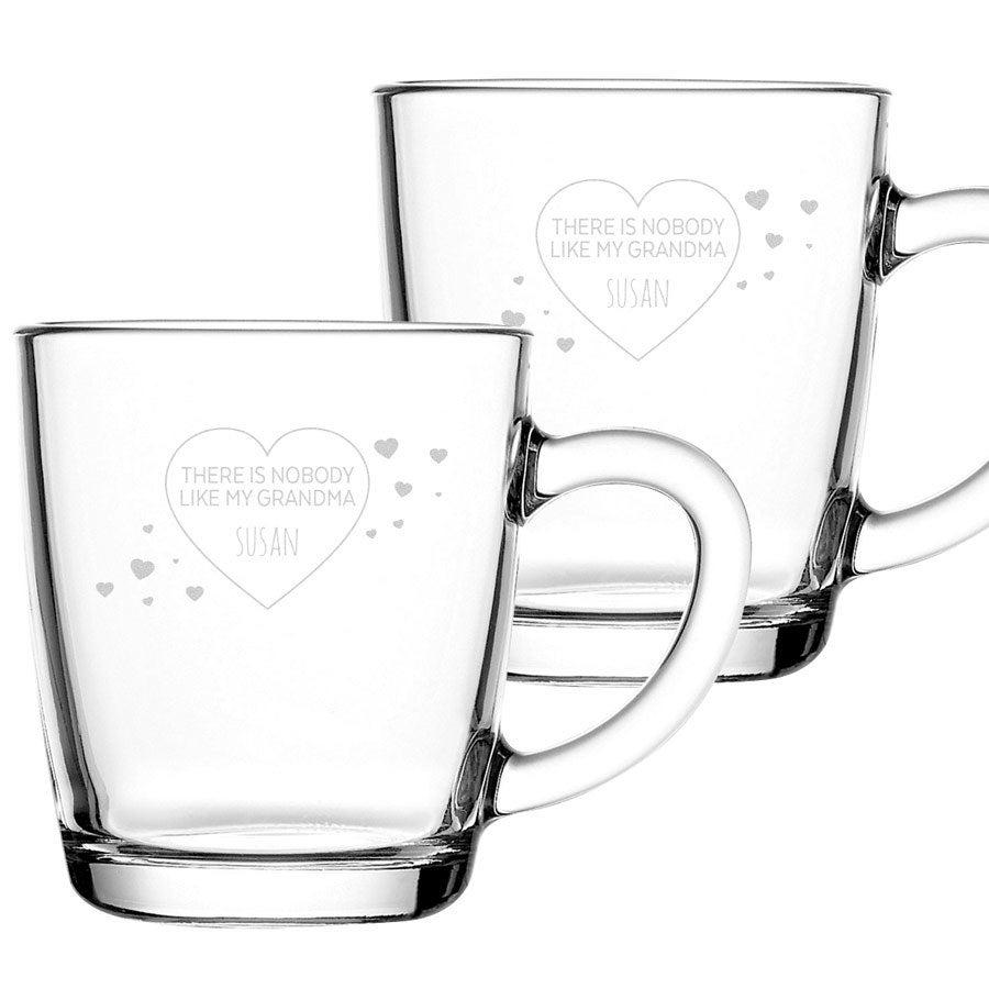 Graverade glasmuggar - mormor/farmor - 2st