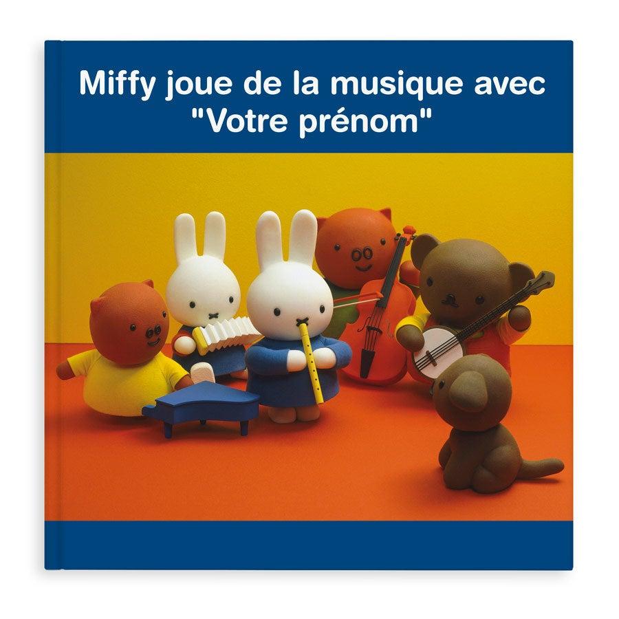 Livre personnalisé - Miffy joue de la musique (couverture souple)
