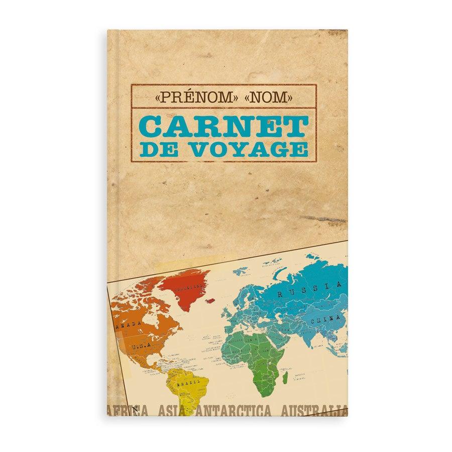 Carnet de voyage personnalisé - Couverture rigide