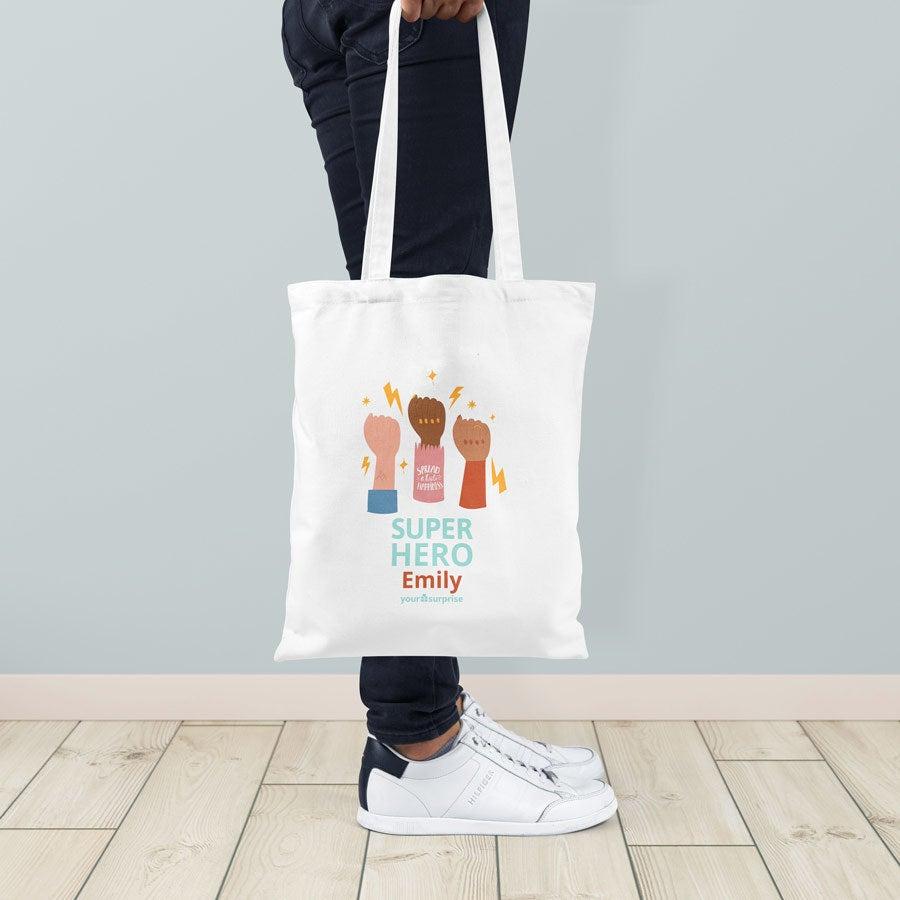 Platená taška - Biela - Superhrdinovia