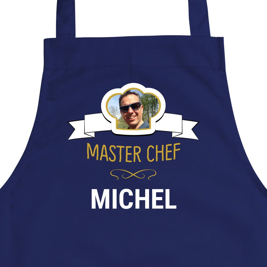 Kuchyňská zástěra - modrá
