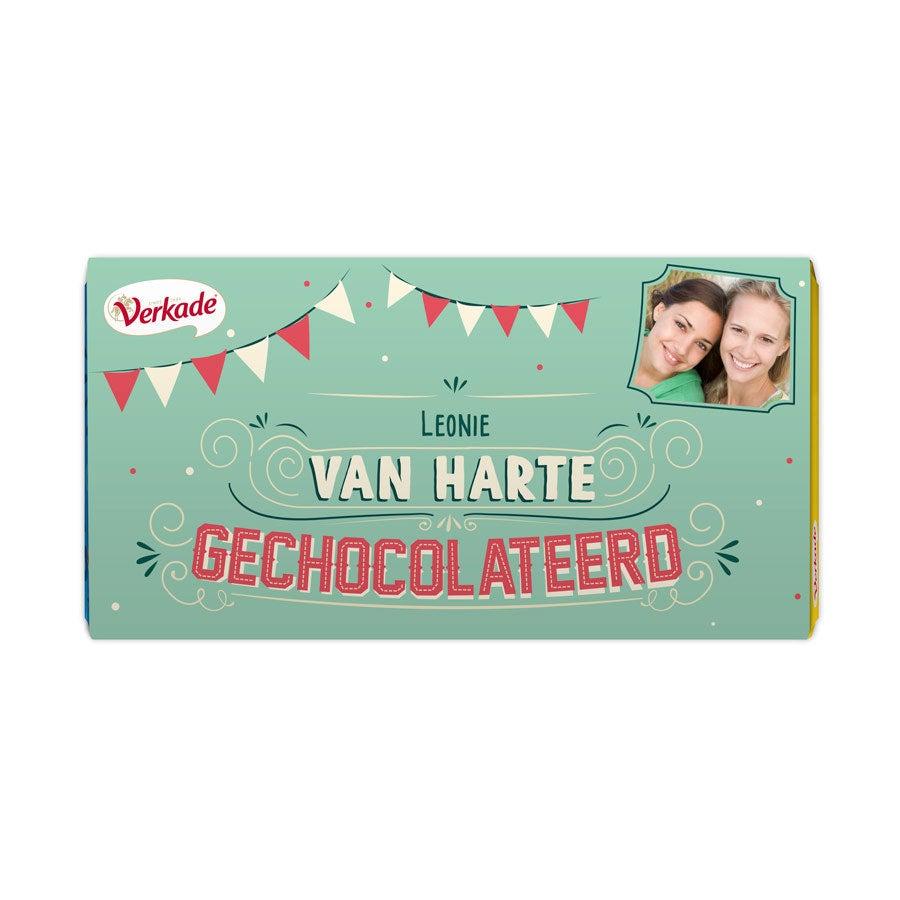 Verkade chocoladereep - Van harte (Melk)