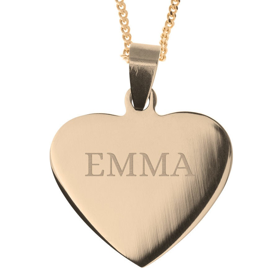 Name Pendant – Heart Gold-plated