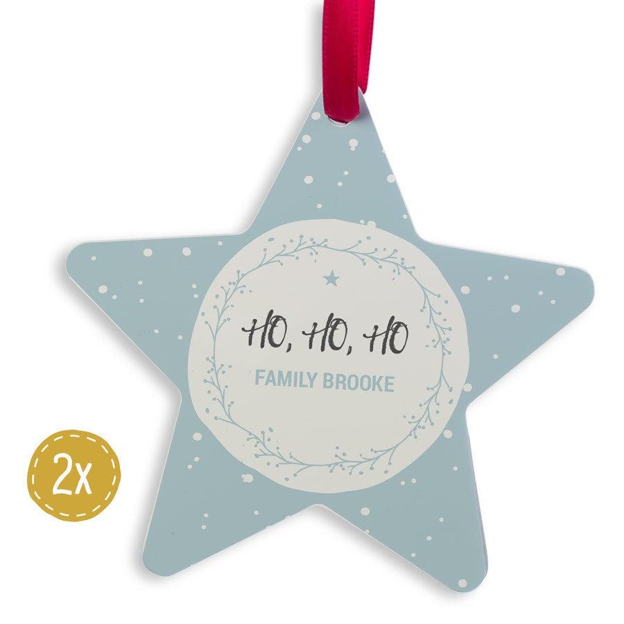 Joulukuula alumiini - Star (2)