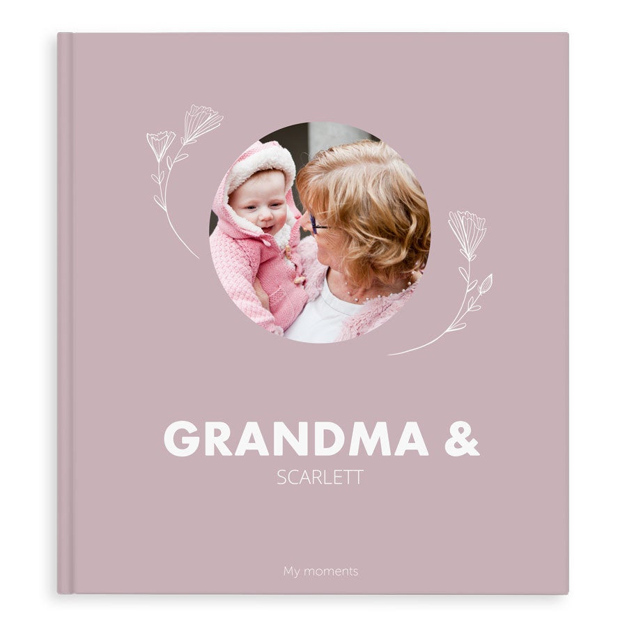 Fotobok - Bestemor & meg/oss - XL - Stiv perm - 40 sider