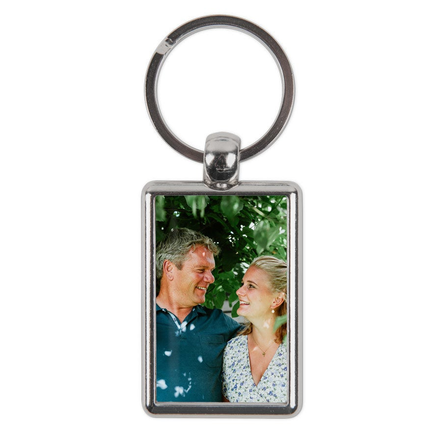 Double-sided photo keyring - Rectangular