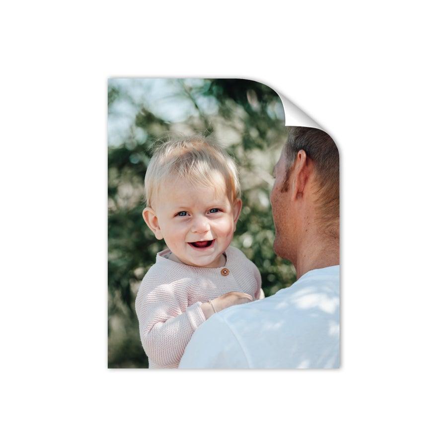 'Papa en ik' foto collage poster - 40 x 50 cm