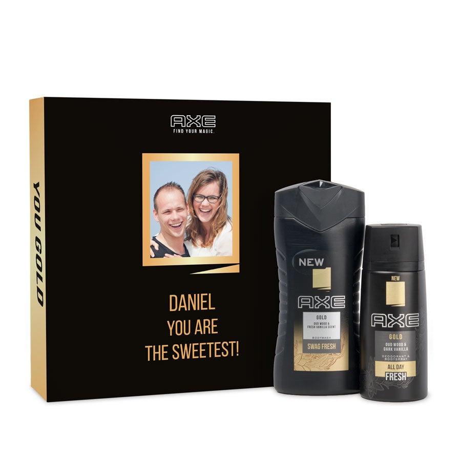 Ax darčeková sada - sprchový gél a deodorant - zlato
