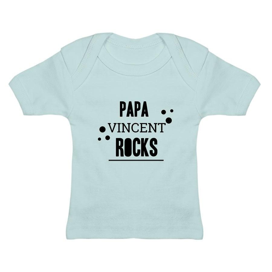 T-shirt bébé - Bleu 0-6 mois
