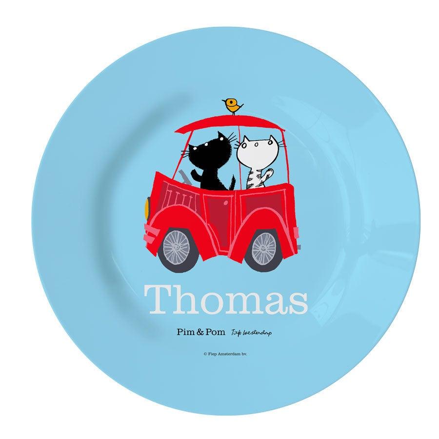 Pim & Pom kinderbordje - Auto (blauw)